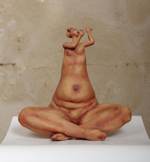 Chéo Cruz sculpture flutiste